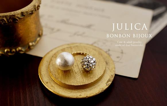 JULICA スワロフスキー&コットンパール指輪