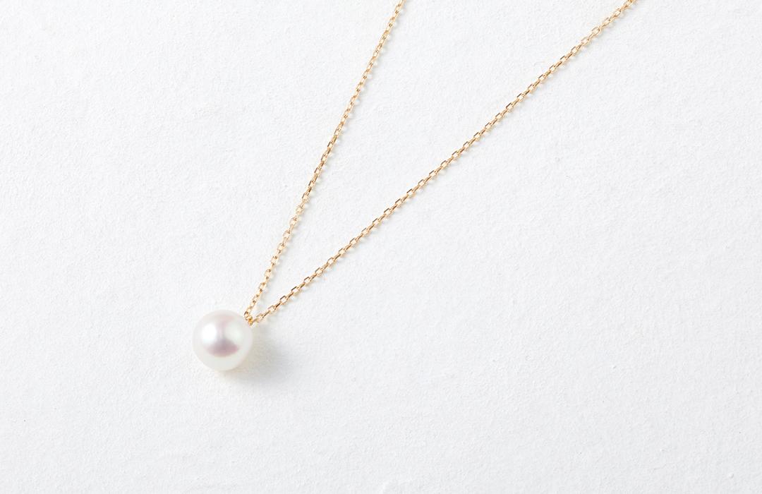アコヤ真珠一粒ネックレス
